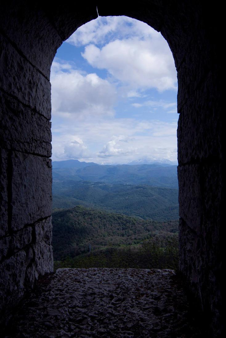 Панорама из окна башни Ахун