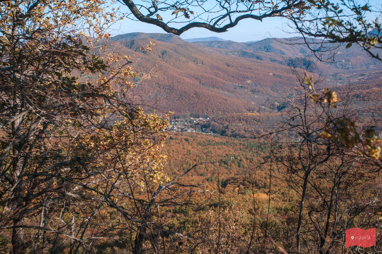 Станица Планческая щель, вид с Красных скал, Северский район