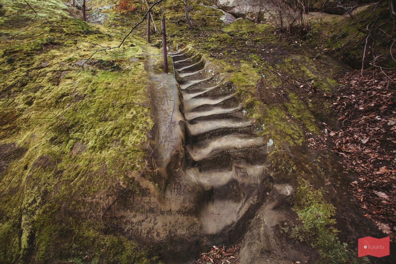 Ступени на скалу Петушок, Горячий Ключ