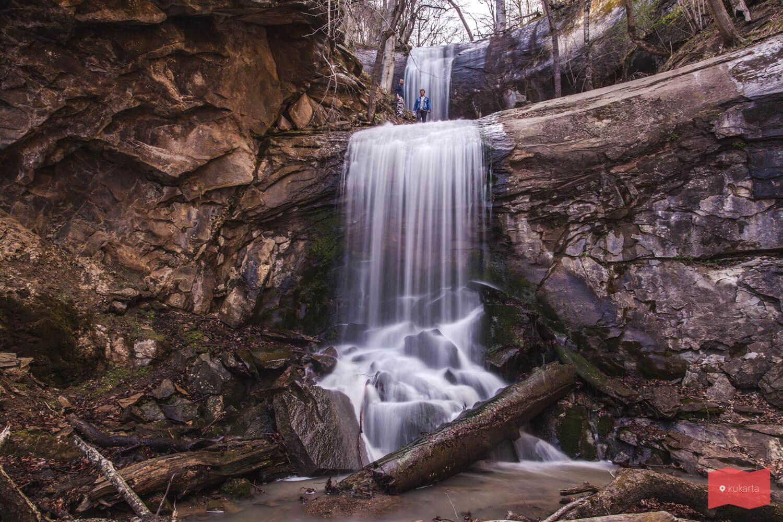 Водопад на реке Кутанка, Хамышки