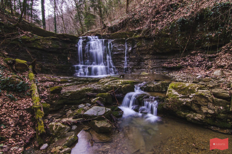 Водопад за Малым Каверзинским водопадом