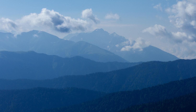 Вид на горы с Инструкторской щели