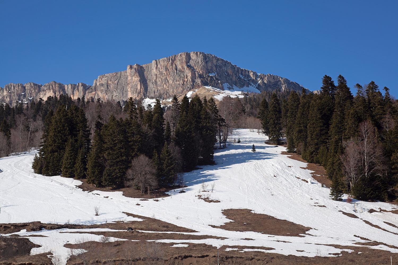 гора Нагой-Кош, высшая точка хребта Каменное море