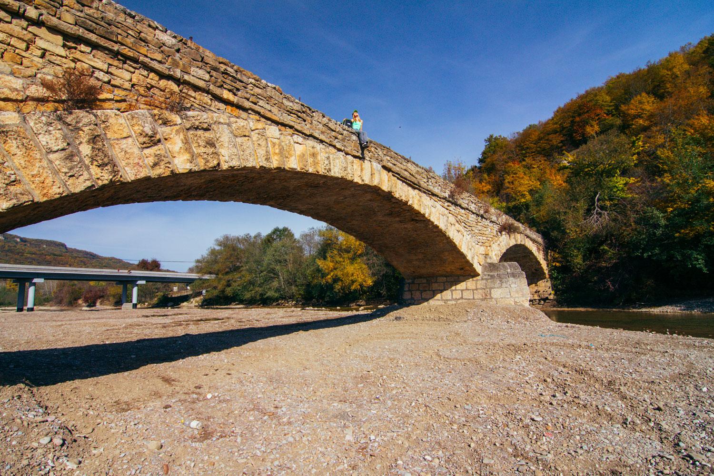 Старый мост в Даховской