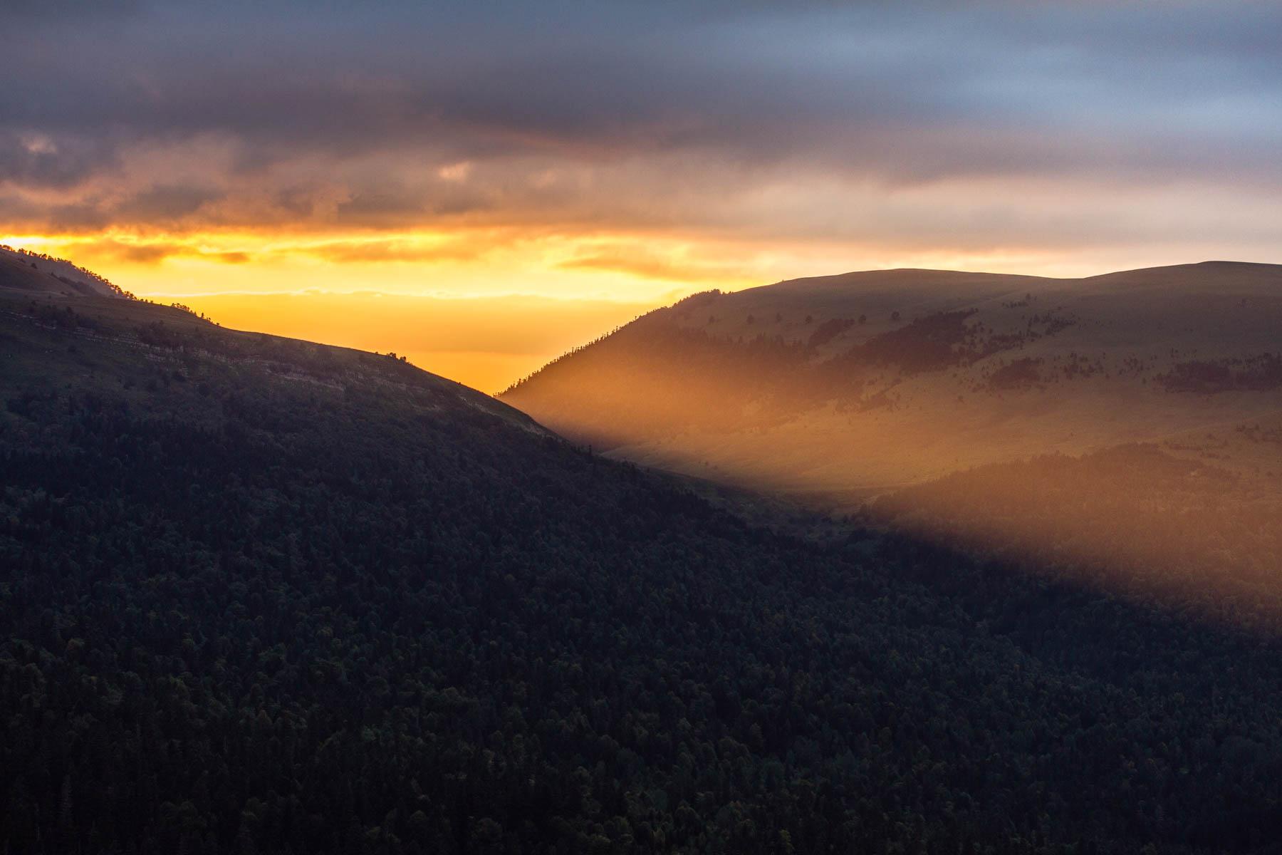 Вид со скалы Утюг на закате