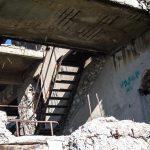 Разрушенный Дворец культуры цементников