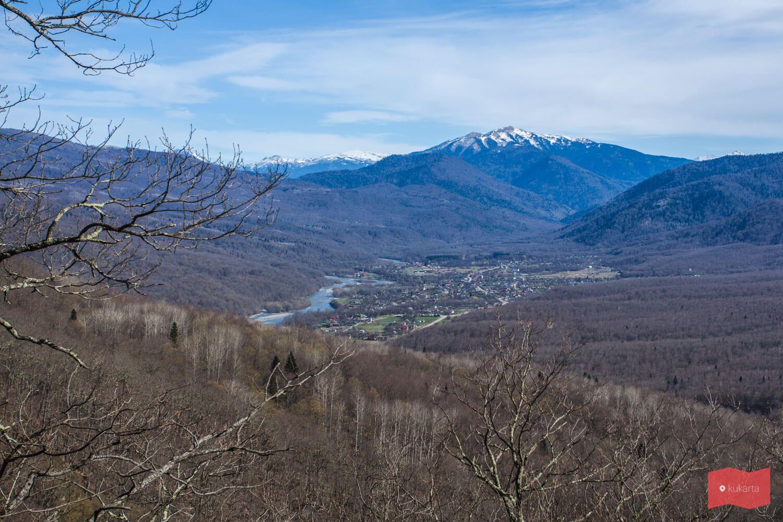 Вид на Хамышки с горы Монашка