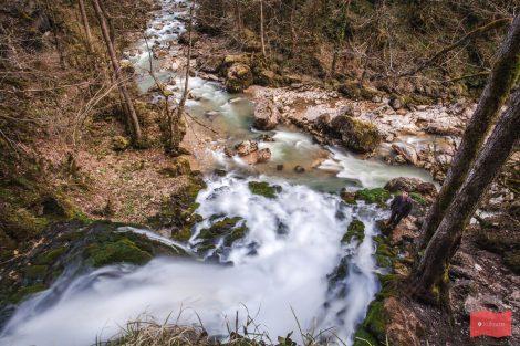Водопад Исиченко и река Курджипс, Мезмай