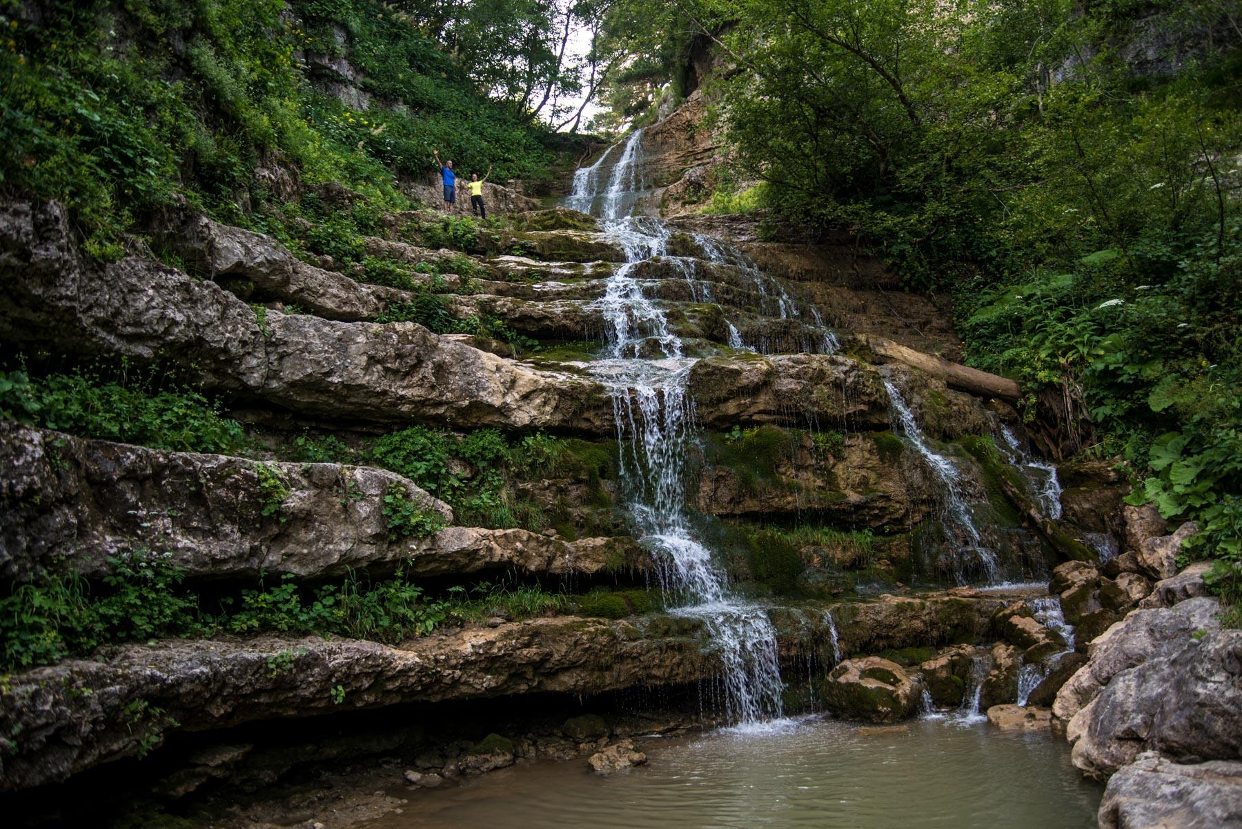 Каскадный водопад, Лаго-Наки