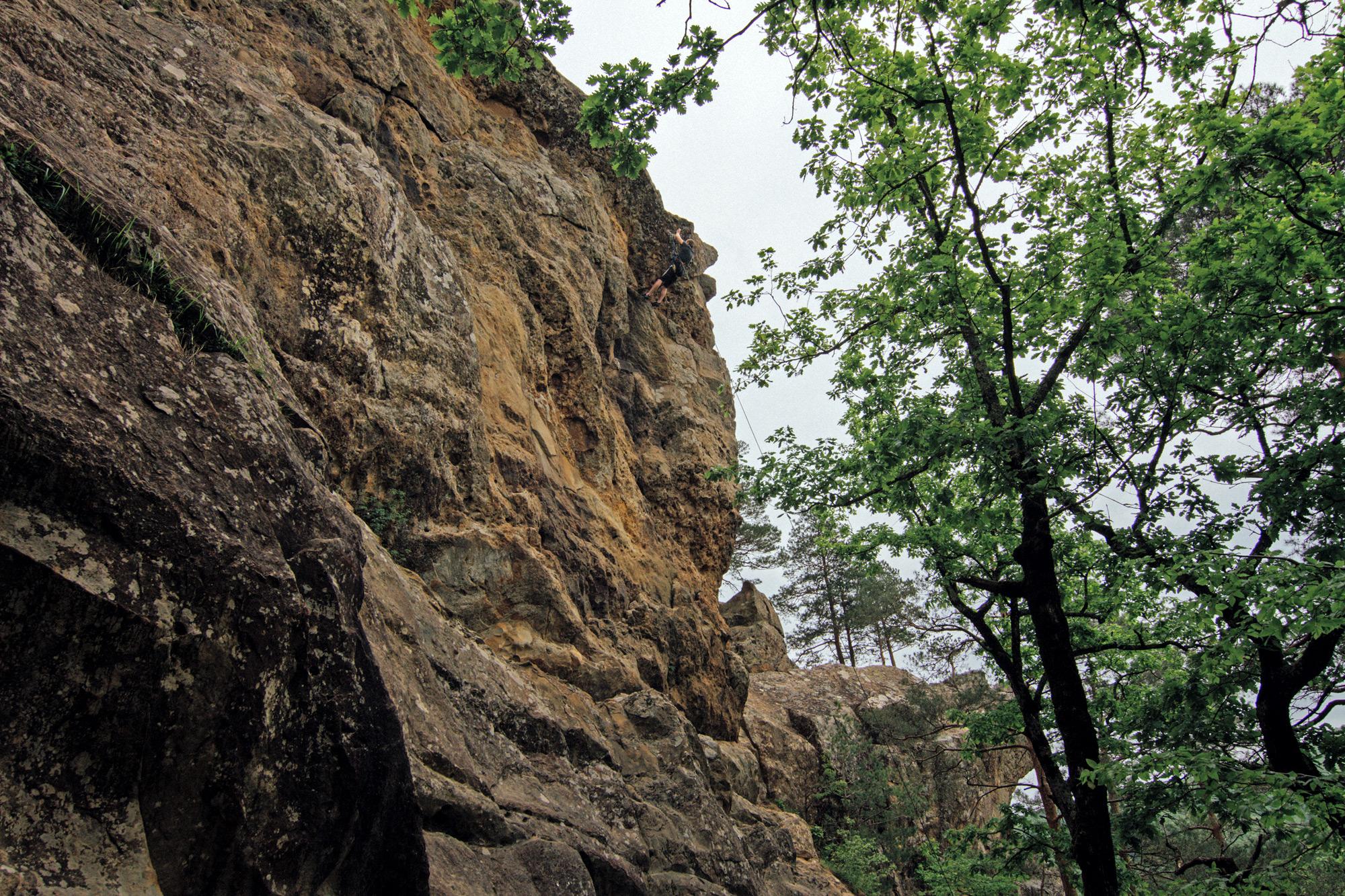 Скалолазы на Планческих скалах