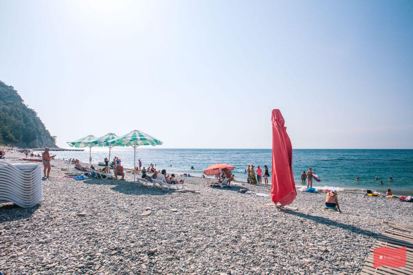 Пляж в Прасковеевке, Геленджик