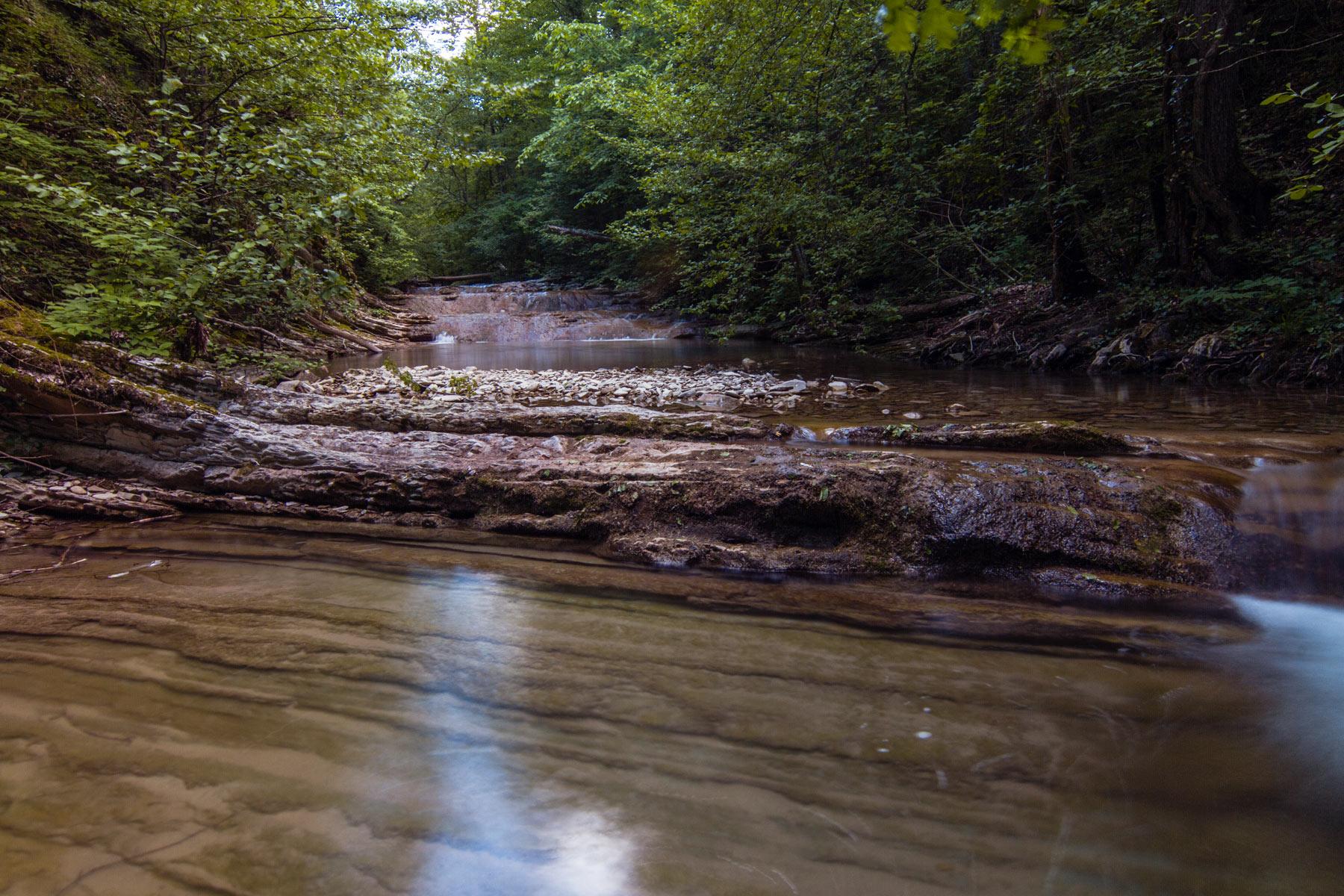 Живописное ущелье реки Жане