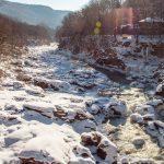 Река Белая, перед водопадами Руфабго, февраль