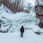 Водопад Шум, февраль