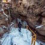 Хаджохская теснина зимой
