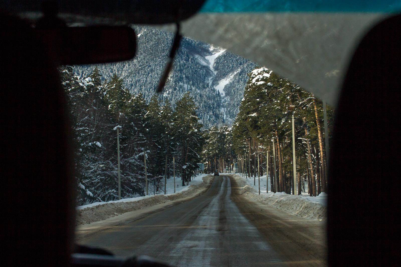 Дорога Краснодар-Архыз