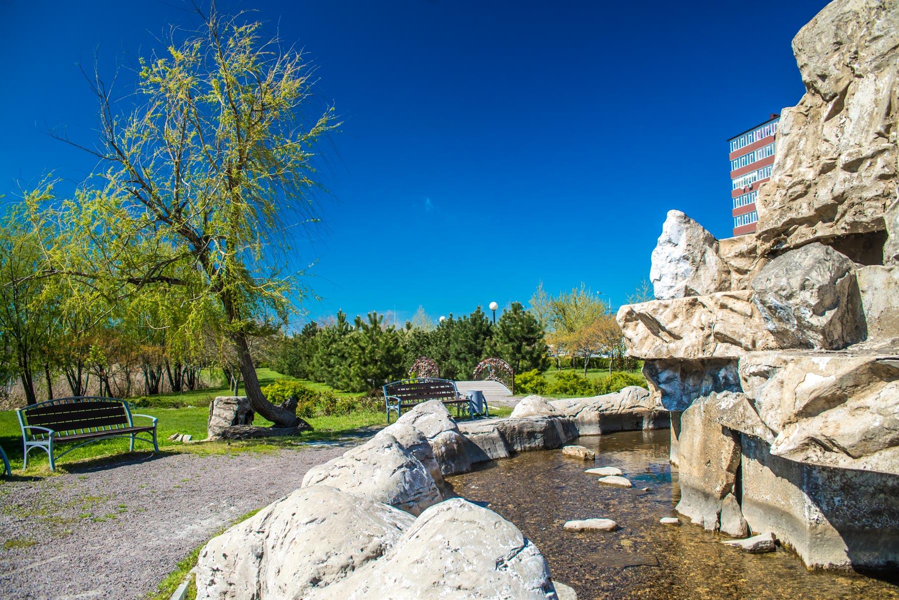 Каскадный фонтан в Анапе