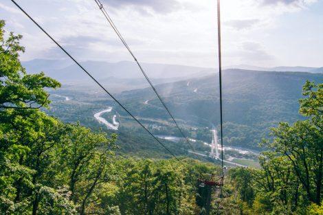 Первая канатная дорожка в Адыгее «Затерянный мир»