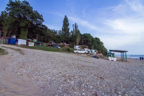 Кемпинг «Турист», пляж Золотой берег