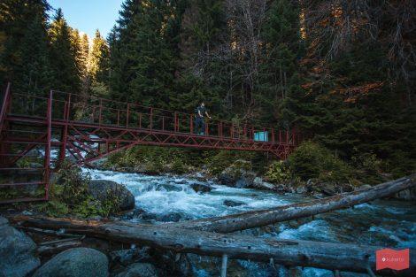 Мост через реку Бадук, Домбай