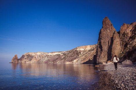 Мыс Фиолент, вид с Яшмового пляжа