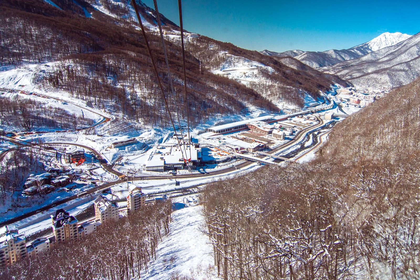 Канатка Газпром 3S (Триэска)
