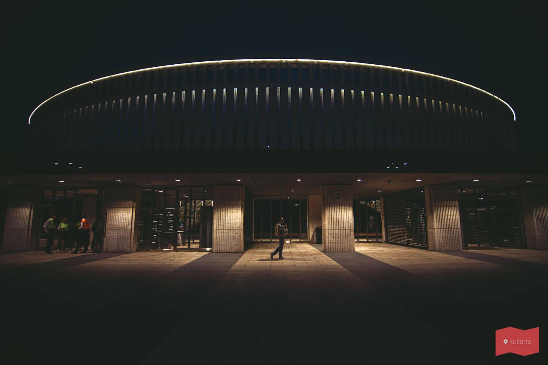Стадион ФК Краснодар ночью