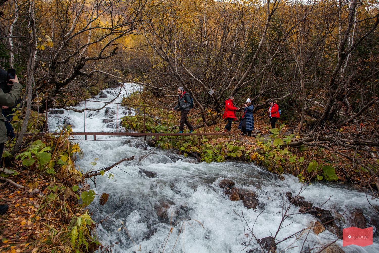 По пути на Алибекский водопад