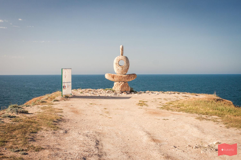 Скульптура Мыслитель, мыс Тарханкут, Крым