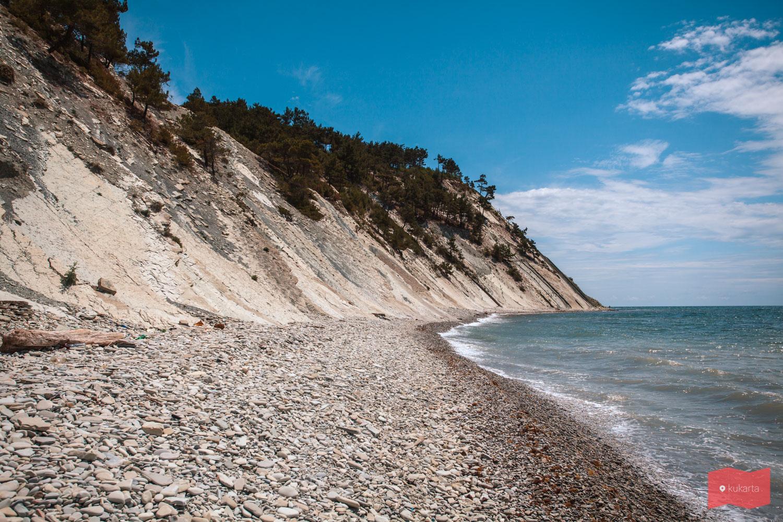 Дикий пляж. Голубая бухта, Геленджик