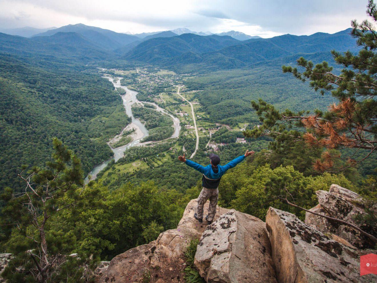 Вид с горы Монах, Хамышки