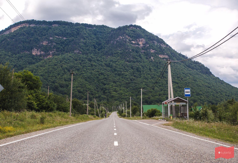 Гора Монах, вид со стороны Хамышков