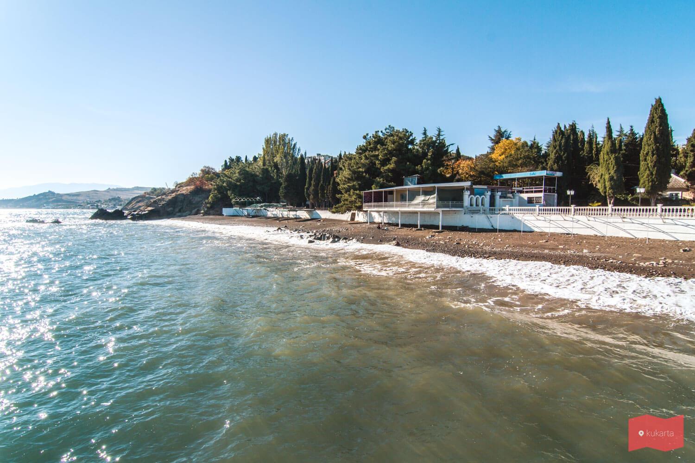Пляж в Малореченском, Алушта