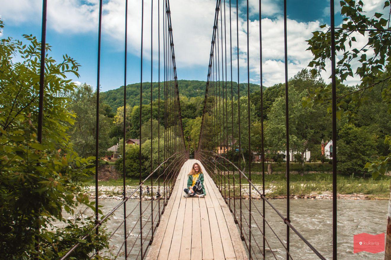 Подвесной мост в Каменномостском, Адыгея