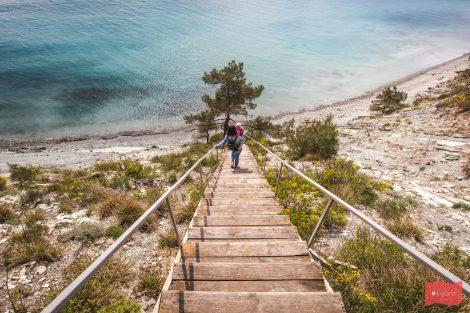 Лестница, Голубая бухта, Геленджик