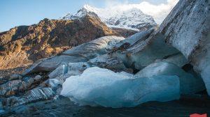 Ледник Алибек, Домбай