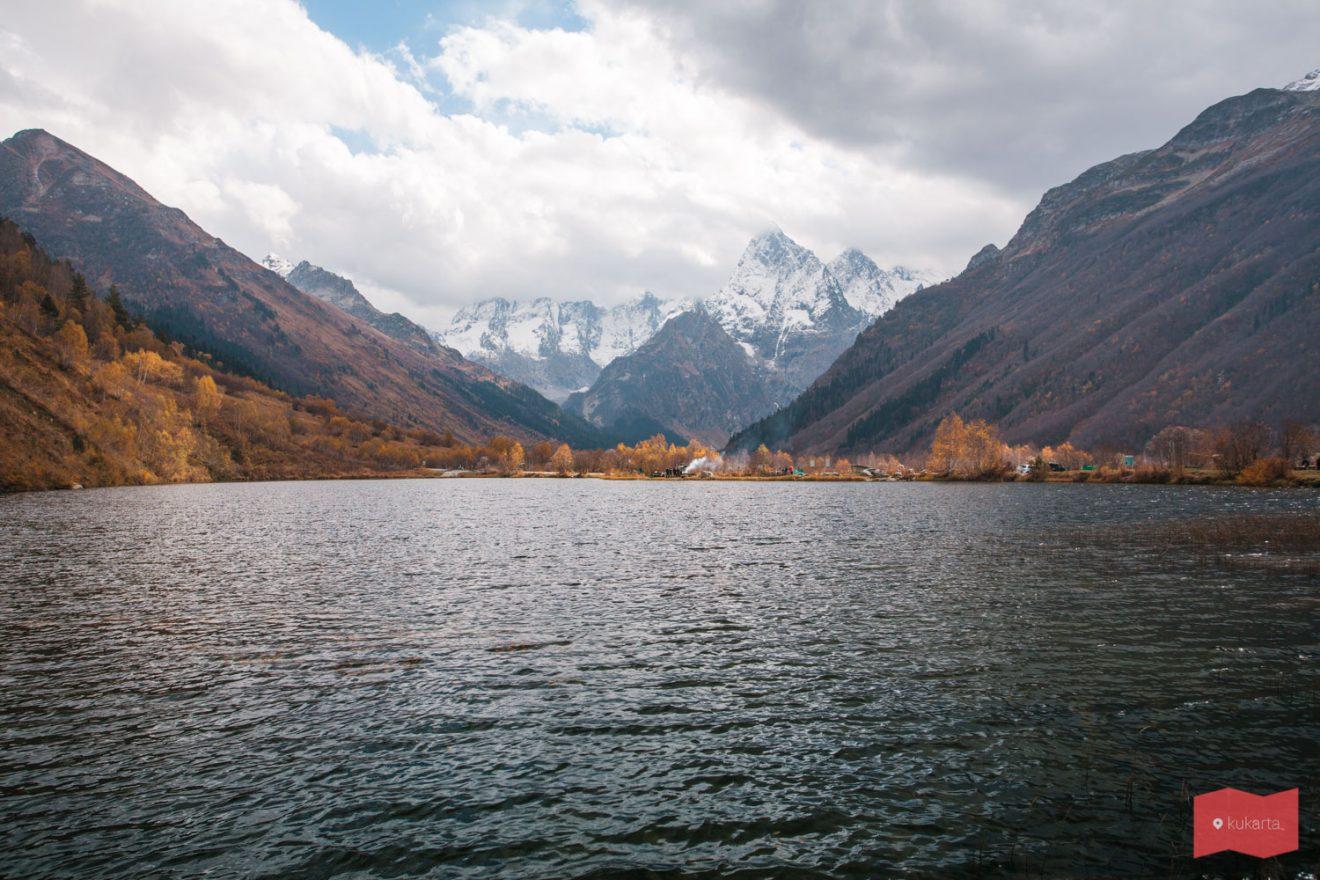 Озеро Туманлы-Кель, Гоначхирское ущелье, Домбай