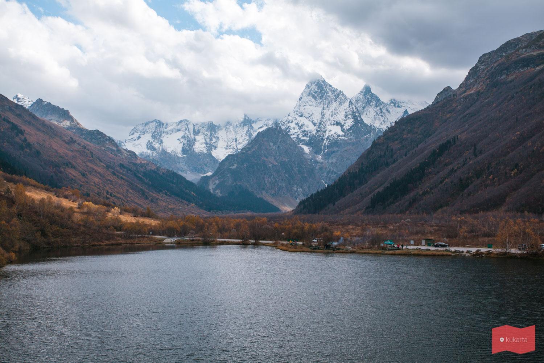 Озеро Туманлы-Кёль, Домбай