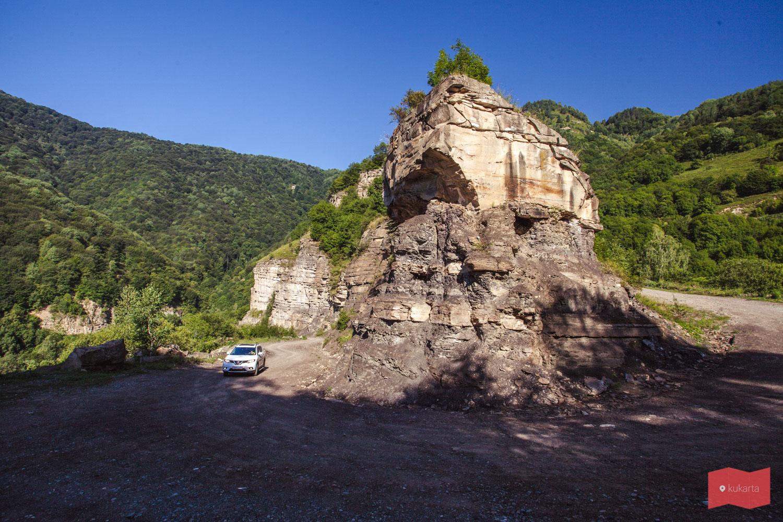 Дорога к Сентинскому храму, Домбай