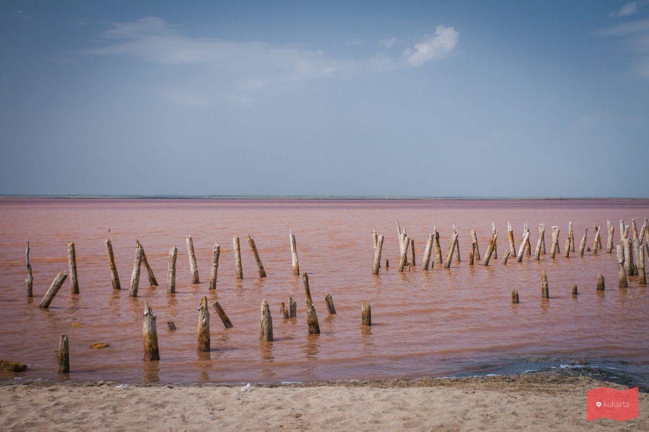 Розовое озеро Сасык-Сиваш, Крым