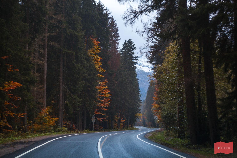 Дорога в Домбай